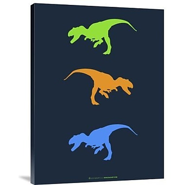 Naxart 'Dinosaur Family 14' Graphic Art Print on Canvas; 32'' H x 24'' W x 1.5'' D