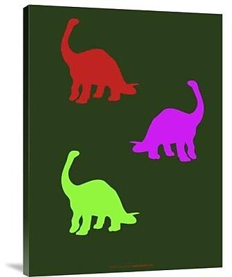 Naxart 'Dinosaur Family 19' Graphic Art Print on Canvas; 32'' H x 24'' W x 1.5'' D