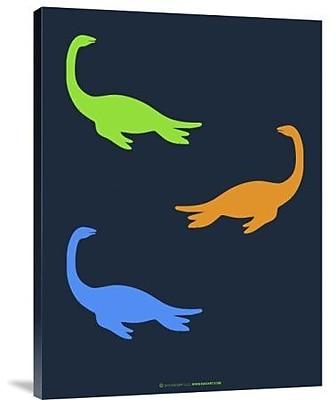 Naxart 'Dinosaur Family 20' Graphic Art Print on Canvas; 16'' H x 12'' W x 1.5'' D