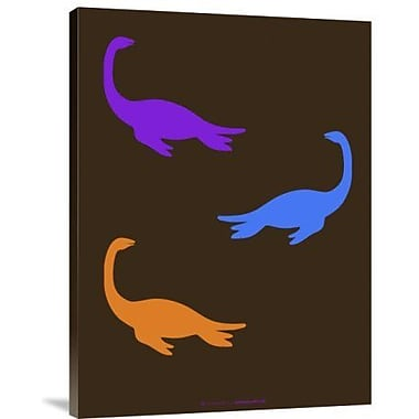 Naxart 'Dinosaur Family 21' Graphic Art Print on Canvas; 32'' H x 24'' W x 1.5'' D