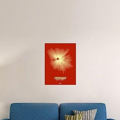 Naxart 'Copenhagen Radiant Map 4' Graphic Art Print on Canvas; 40'' H x 30'' W x 1.5'' D