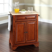 Darby Home Co Abbate Kitchen Cart; Classic Cherry