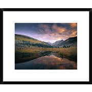 Global Gallery 'Ragged Peak and Chair Mountain Reflected' Framed Photographic Print