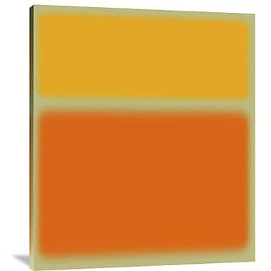 Naxart 'Abstract Orange & Yellow' Graphic Art Print on Canvas; 40'' H x 35'' W x 1.5'' D
