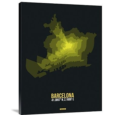 Naxart 'Barcelona Radiant Map 1' Graphic Art Print on Canvas; 32'' H x 24'' W x 1.5'' D