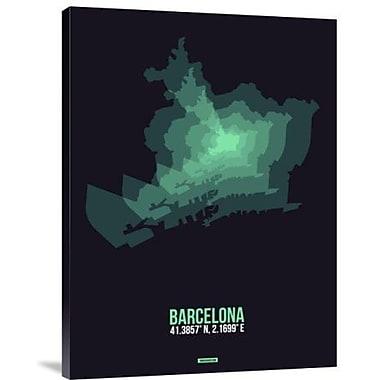Naxart 'Barcelona Radiant Map 2' Graphic Art Print on Canvas; 32'' H x 24'' W x 1.5'' D