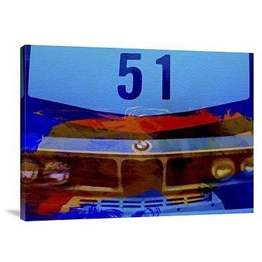Naxart 'BMW Racing Colors' Graphic Art Print on Canvas; 24'' H x 32'' W x 1.5'' D