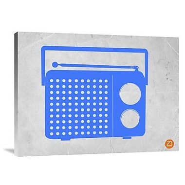 Naxart 'Blue Transistor Radio' Graphic Art Print on Canvas; 12'' H x 16'' W x 1.5'' D