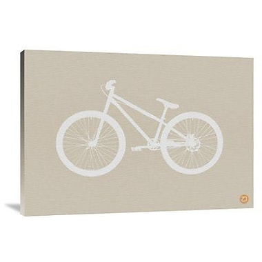Naxart 'Bicycle Brown' Graphic Art Print on Canvas; 15'' H x 22'' W x 1.5'' D