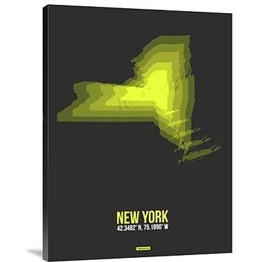 Naxart 'New York Radiant Map 6' Graphic Art Print on Canvas; 32'' H x 24'' W x 1.5'' D