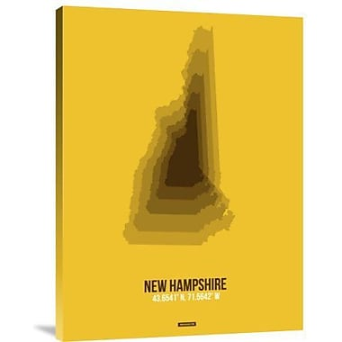 Naxart 'New Hampshire Radiant Map 2' Graphic Art Print on Canvas; 24'' H x 18'' W x 1.5'' D