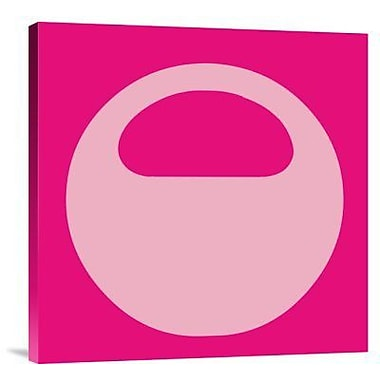 Naxart 'Letter O Pink' Graphic Art Print on Canvas; 40'' H x 40'' W x 1.5'' D