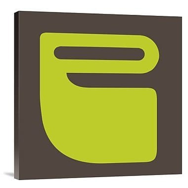 Naxart 'Letter P Green' Graphic Art Print on Canvas; 30'' H x 30'' W x 1.5'' D