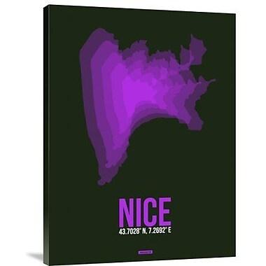 Naxart 'Nice Radiant Map 1' Graphic Art Print on Canvas; 40'' H x 30'' W x 1.5'' D