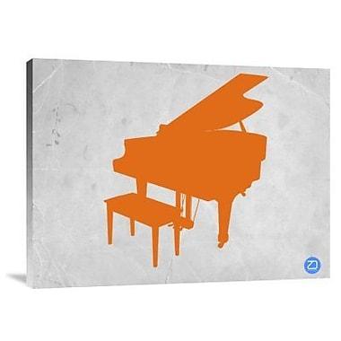 Naxart 'Orange Piano' Graphic Art Print on Canvas; 12'' H x 16'' W x 1.5'' D