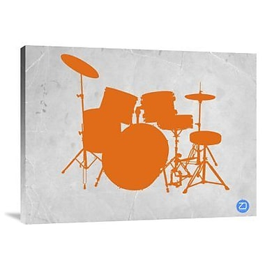 Naxart 'Orange Drum Set' Graphic Art Print on Canvas; 30'' H x 40'' W x 1.5'' D