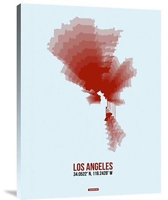 Naxart 'Los Angeles Radiant Map 7' Graphic Art Print on Canvas; 16'' H x 12'' W x 1.5'' D