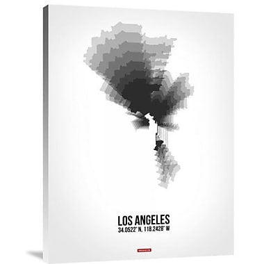 Naxart 'Los Angeles Radiant Map 8' Graphic Art Print on Canvas; 16'' H x 12'' W x 1.5'' D