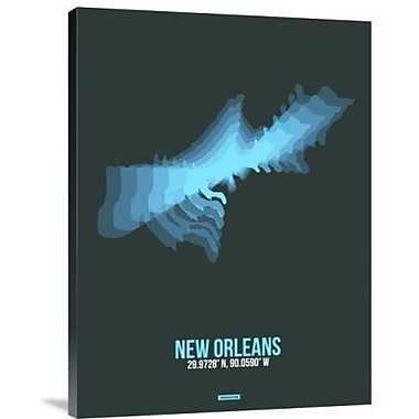 Naxart 'New Orleans Radiant Map 2' Graphic Art Print on Canvas; 16'' H x 12'' W x 1.5'' D