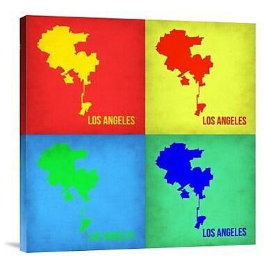 Naxart 'Los Angeles Pop Art Map 1' Graphic Art Print on Canvas; 30'' H x 30'' W x 1.5'' D