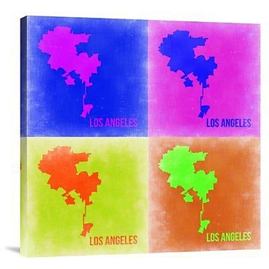 Naxart 'Los Angeles Pop Art Map 2' Graphic Art Print on Canvas; 24'' H x 24'' W x 1.5'' D