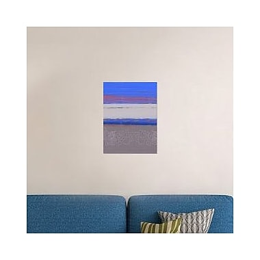 Naxart 'Abstract Blue View 1' Graphic Art Print on Canvas; 40'' H x 30'' W x 1.5'' D
