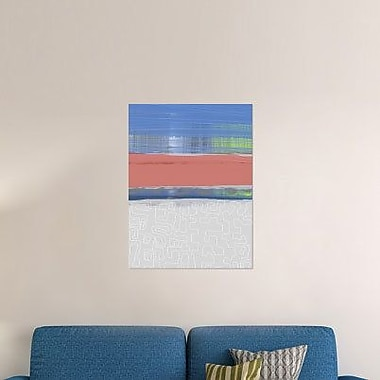 Naxart 'Abstract Blue View 2' Graphic Art Print on Canvas; 16'' H x 12'' W x 1.5'' D