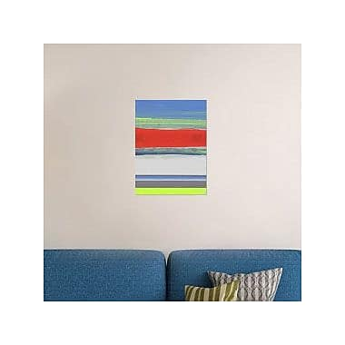Naxart 'Abstract Blue View 4' Graphic Art Print on Canvas; 32'' H x 24'' W x 1.5'' D