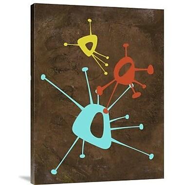 Naxart 'Abstract Splash Theme 1' Graphic Art Print on Canvas; 24'' H x 18'' W x 1.5'' D