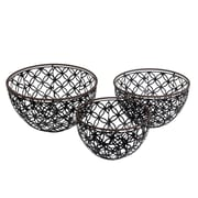 Brayden Studio 3 Piece Iron Basket Set
