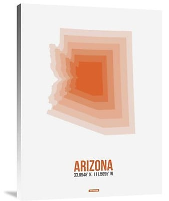 Naxart 'Arizona Radiant Map 1' Graphic Art Print on Canvas; 32'' H x 24'' W x 1.5'' D