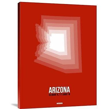 Naxart 'Arizona Radiant Map 4' Graphic Art Print on Canvas; 24'' H x 18'' W x 1.5'' D