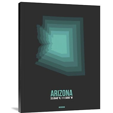 Naxart 'Arizona Radiant Map 5' Graphic Art Print on Canvas; 32'' H x 24'' W x 1.5'' D