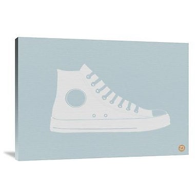 Naxart 'White Shoe' Graphic Art Print on Canvas; 15'' H x 22'' W x 1.5'' D