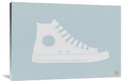 Naxart 'White Shoe' Graphic Art Print on Canvas; 25'' H x 36'' W x 1.5'' D
