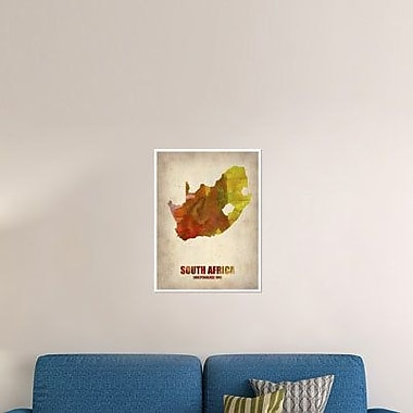 Naxart 'South African Map' Graphic Art Print on Canvas; 40'' H x 30'' W x 1.5'' D