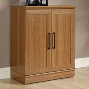 Charlton Home Amboyer 2 Door Storage Cabinet; Sienna Oak