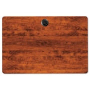 Red Barrel Studio Belle Rectangular Training Table Top; Medium Cherry