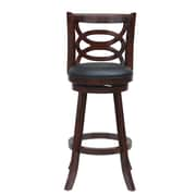 Red Barrel Studio LaGrange 24'' Swivel Bar Stool; Cherry