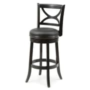Red Barrel Studio Lakemoore 29'' Swivel Bar Stool; Solid Black