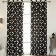 Red Barrel Studio Columbard Blackout Thermal Single Curtain Panel; Black