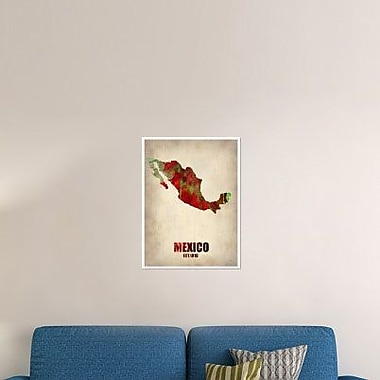 Naxart 'Mexico Watercolor Map' Graphic Art Print on Canvas; 24'' H x 18'' W x 1.5'' D