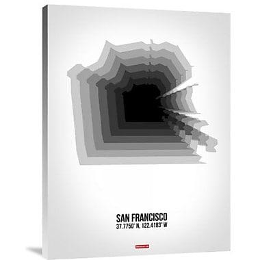 Naxart 'San Francisco Radiant Map 4' Graphic Art Print on Canvas; 16'' H x 12'' W x 1.5'' D