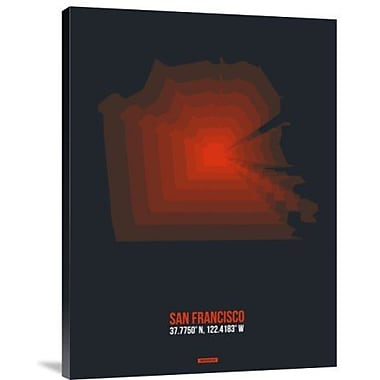 Naxart 'San Francisco Radiant Map 5' Graphic Art Print on Canvas; 24'' H x 18'' W x 1.5'' D