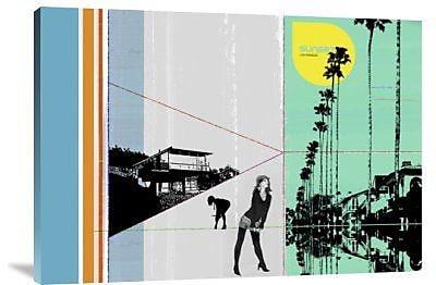 Naxart 'Sunset in Hamptons' Graphic Art Print on Canvas; 28'' H x 40'' W x 1.5'' D