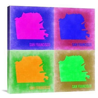 Naxart 'San Francisco Pop Art Map 2' Graphic Art Print on Canvas; 24'' H x 24'' W x 1.5'' D