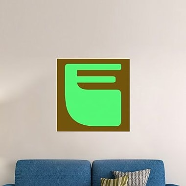 Naxart 'Letter E Green' Graphic Art Print on Canvas; 18'' H x 18'' W x 1.5'' D