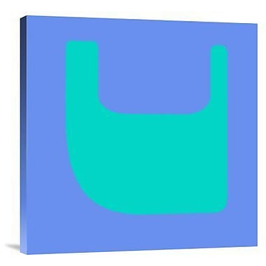 Naxart 'Letter V Green' Graphic Art Print on Canvas; 18'' H x 18'' W x 1.5'' D