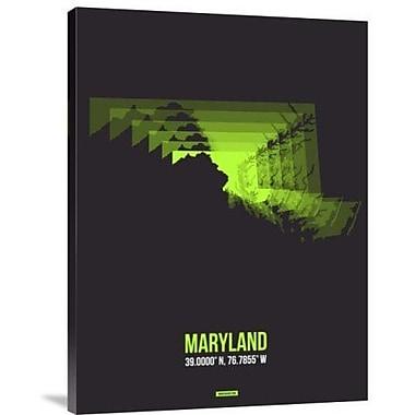 Naxart 'Maryland Radiant Map 6' Graphic Art Print on Canvas; 24'' H x 18'' W x 1.5'' D