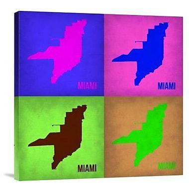 Naxart 'Miami Pop Art Map 1' Graphic Art Print on Canvas; 30'' H x 30'' W x 1.5'' D